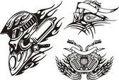 Stammes-fahrräder. — Stockvektor