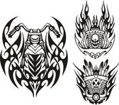 Tribal bikes. — Stockvector