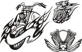Tribais motos. — Vetorial Stock