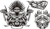 Bici tribale. — Vettoriale Stock