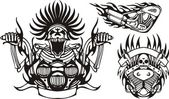 Tribal bikes. — Vector de stock