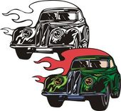 Flaming hotrods. — Stock Photo