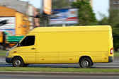 Yellow van — Stock Photo