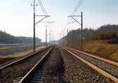 Spoorweg track — Stockfoto