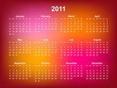 Kalender 2011 — Stockvector