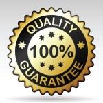 Quality guarantee label, vector EPS version 8 — Stock Vector
