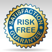 Risk-free guarantee label. — Wektor stockowy