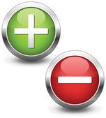 Positive and negative buttons. — Stock Vector