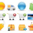 Collection icons — Stock Vector