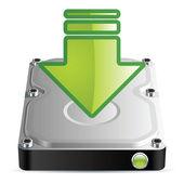 硬磁盘驱动器 — 图库矢量图片