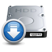 Hard disk drive — Stock Vector