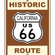 California Historic Route US 66 Sign Illustration - Stock Photo