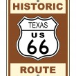 Texas Historic Route US 66 Sign - Stock Photo