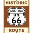 Arizona Historic Route US 66 Sign - Stock Photo