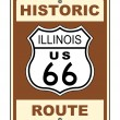 Historic Illinois Route 66 Sign — Stok Fotoğraf #3958517