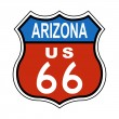 Arizona Route US 66 Sign - Stock Photo