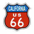 California Route US 66 Sign - Stock Photo