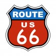 Route US 66 Sign - Stock Photo