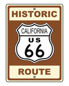 California Historic Route US 66 Sign Illustration — Stock Photo