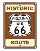 Arizona Historic Route US 66 Sign — Stock Photo