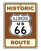 Historic Illinois Route 66 Sign — Stock Photo