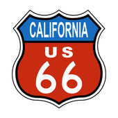 California Route US 66 Sign — 图库照片
