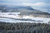 Krajobraz w pobliżu miejscowości pasterka w polsce — Zdjęcie stockowe