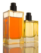 Two Perfume Bottles - reflection, patch — Stock Photo
