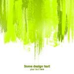 Green abstract paint splashes illustration. Vector — Stock Vector