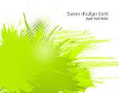 Pintura abstracta verde salpica ilustración. vector — Vector de stock