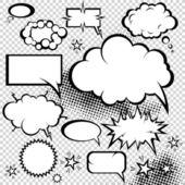 Colección de cómics burbujas — Vector de stock