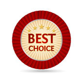 Best choice golden label — Stock Vector