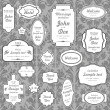 Royalty-Free Stock Vektorový obrázek: Set of ornate vector frames and ornaments with sample text. Perf