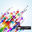 Abstract colored gradient background with arrows — ストックベクタ