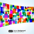 Abstract colorful background. Vector rectangle design — Stock Vector