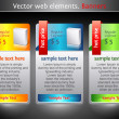 Web elements. Sale banners — Imagen vectorial