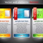 éléments du Web. bannières de vente — Vecteur