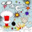 Royalty-Free Stock Vector Image: Vector comic book explosion elements for your design
