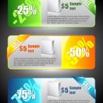 banners de venda — Vetorial Stock