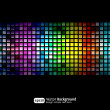 Black business abstract background with color gradients — 图库矢量图片