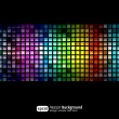 Black business abstract background with color gradients — Stock Vector