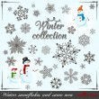 winter collection — Stock Vector