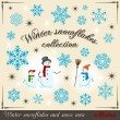 Winter collection 2 — Stock Vector