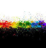 Color paint splashes. Gradient vector background — Stock Vector