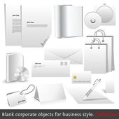 Blank corporate objects for business style — Stock Vector