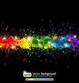 Colorful gradient paint splashes vector background. Eps10 — ストックベクタ