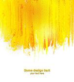 Orange abstract paint splashes illustration. Vector — Stock Vector