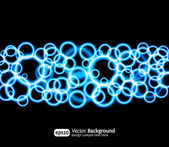 Eps10 bright light effects blue background — Vector de stock