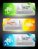Sale banners — Vector de stock