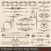 Calligraphic design elements — Vetor de Stock